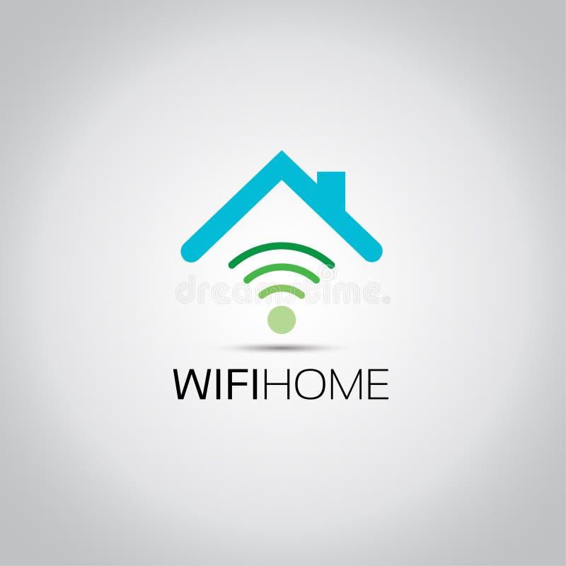 Logo di progettazione della casa di Wifi royalty illustrazione gratis