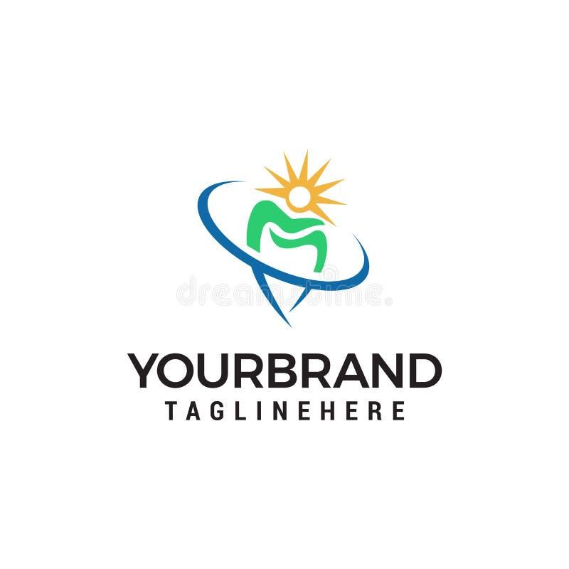 Logo di protezione del dente templat dentario di concetto di progetto di logo della clinica royalty illustrazione gratis