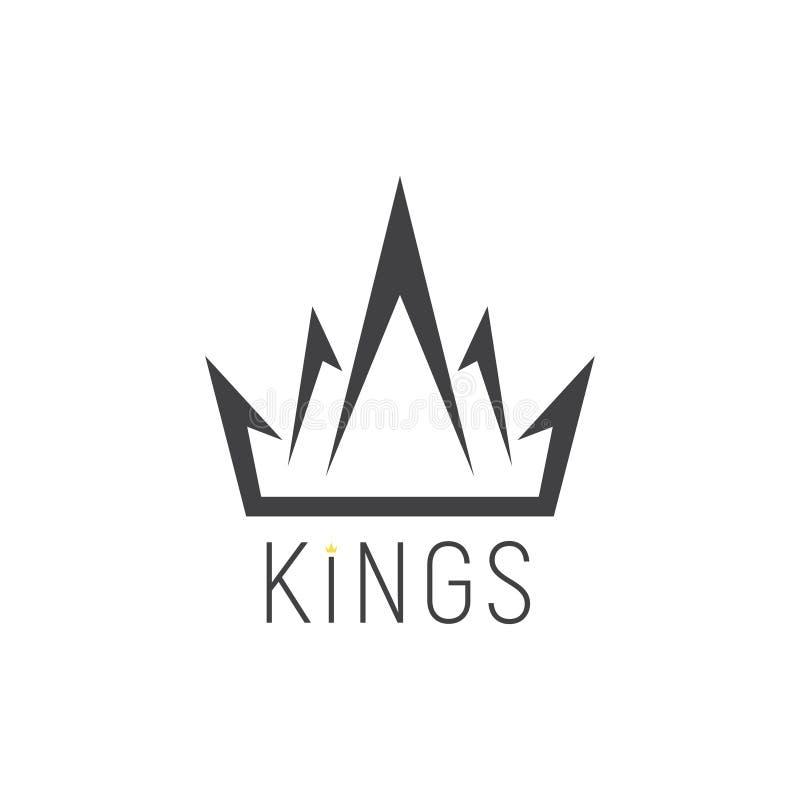 Logo di re, emblema della corona royalty illustrazione gratis