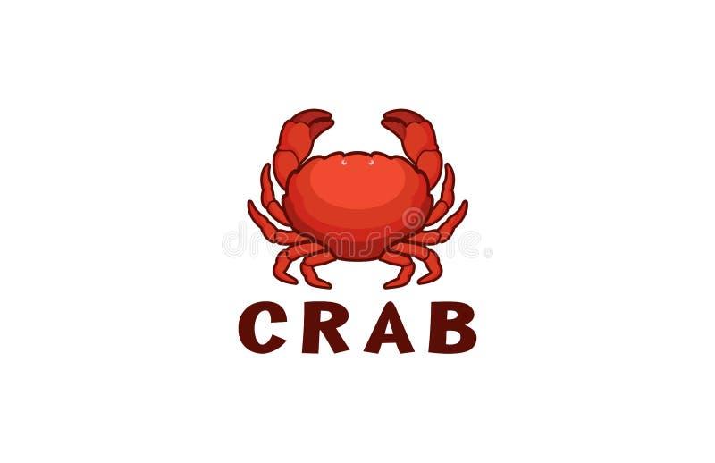 Logo di Red Crab Seafood Fresco illustrazione vettoriale