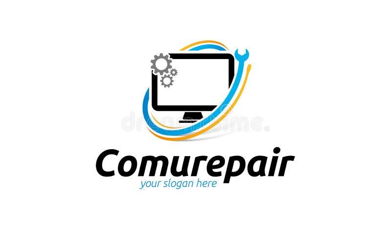 Logo di riparazione del computer illustrazione vettoriale