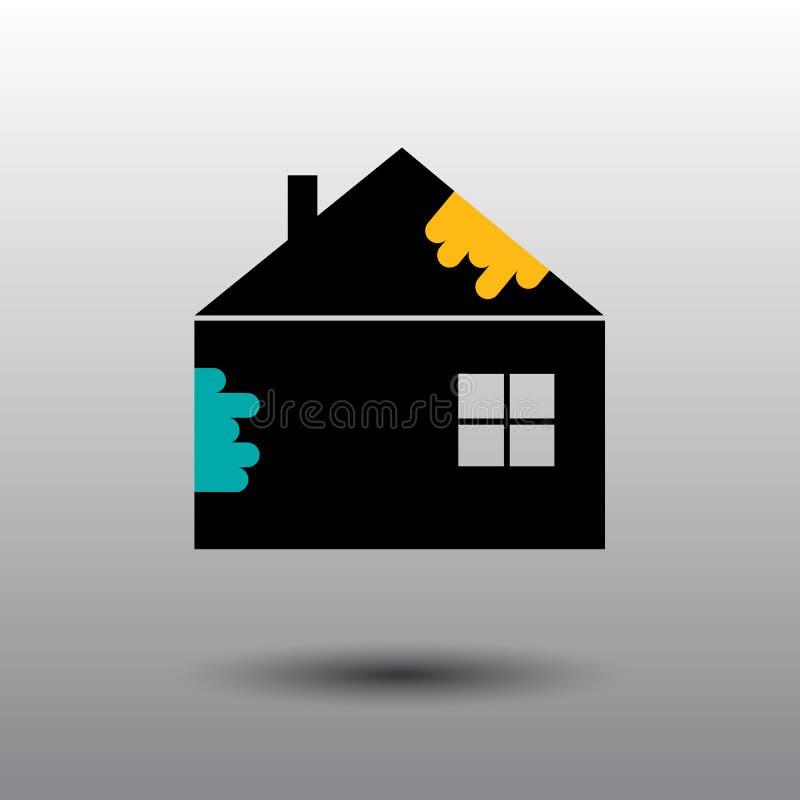 Logo di riparazione della Camera Camera, Real Estate, costruzione, logo di costruzione vettore della casa Lavora l'icona Segno de illustrazione vettoriale
