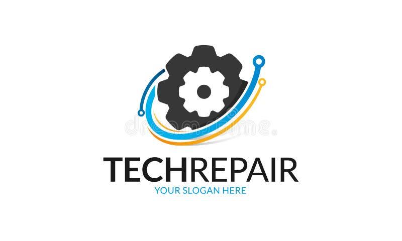 Logo di riparazione di tecnologia illustrazione vettoriale