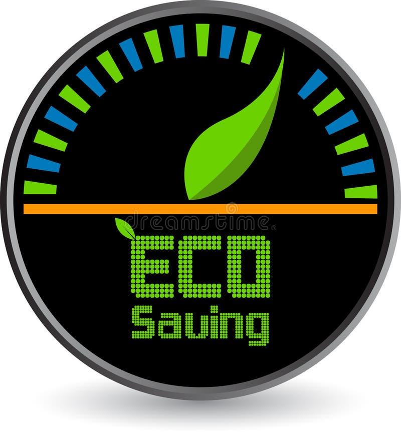 Logo di risparmio di Eco illustrazione vettoriale