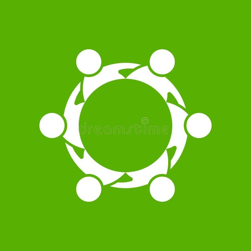 Logo di riunione dei gruppi della gente royalty illustrazione gratis