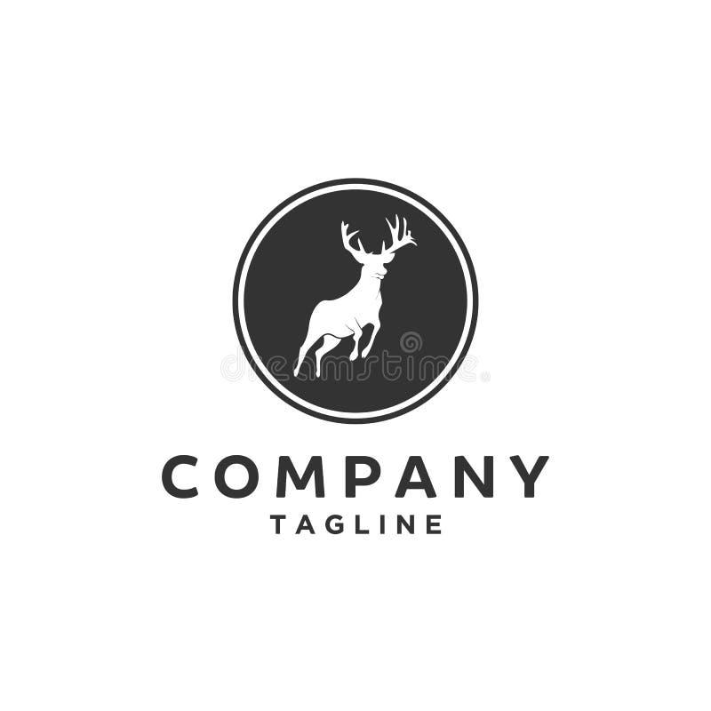 Logo di salto dei cervi dell'antilope illustrazione di stock