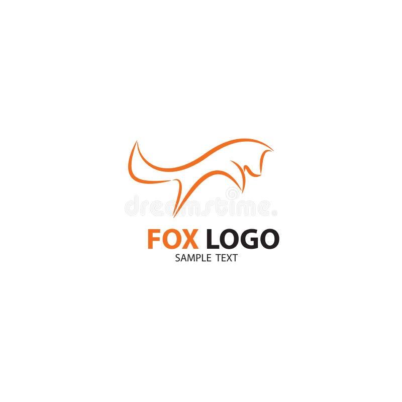Logo di salto di Fox, icona illustrazione vettoriale