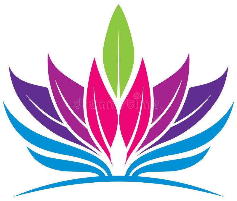 Logo di salute della foglia royalty illustrazione gratis