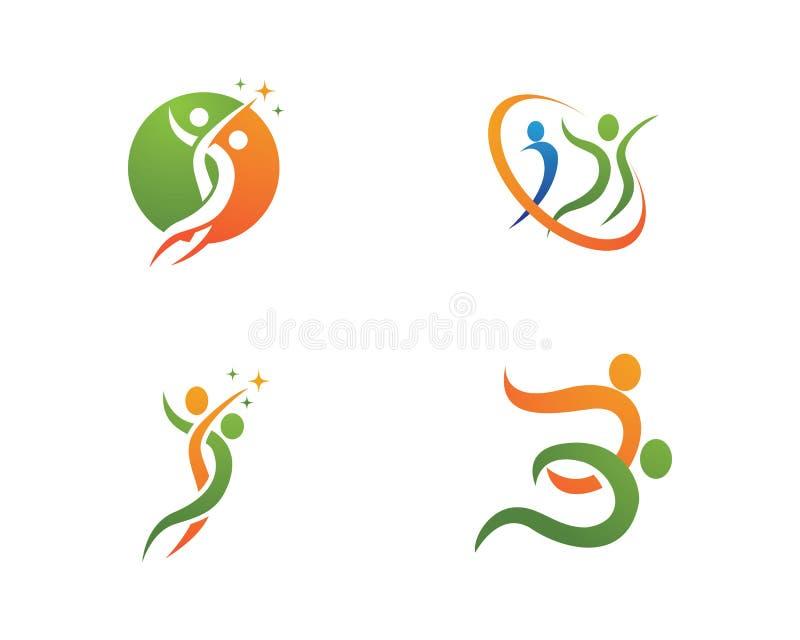 Logo di sanità illustrazione di stock