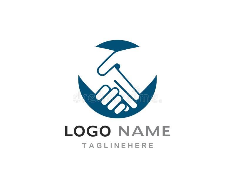 Logo di scossa della mano illustrazione vettoriale