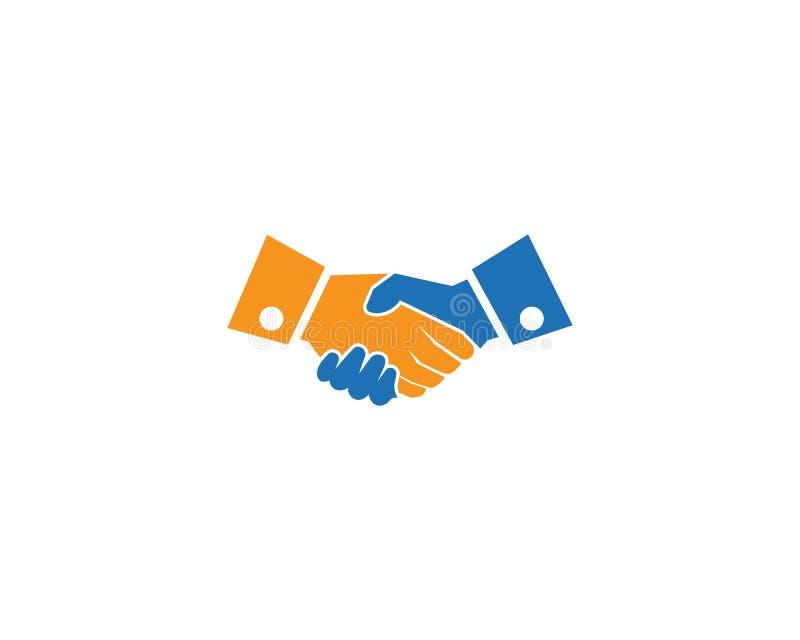 Logo di scossa della mano royalty illustrazione gratis