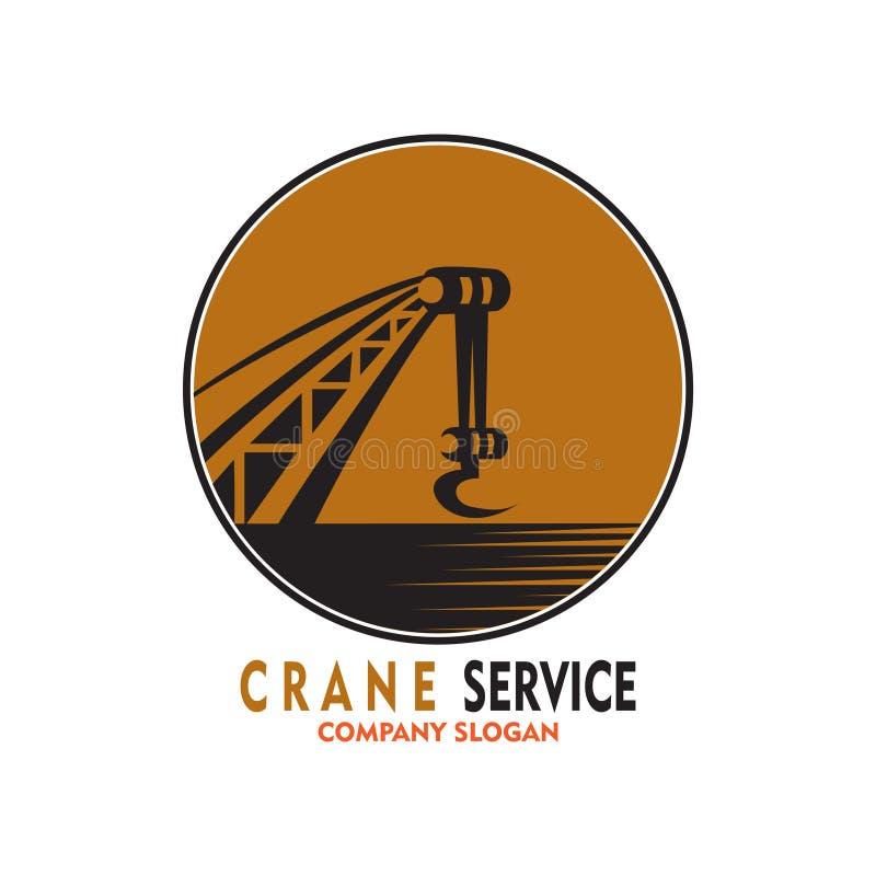 Logo di servizio della gru illustrazione vettoriale