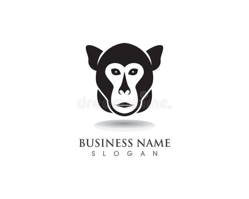 Logo di simbolo della scimmia e simbolo illustrazione vettoriale