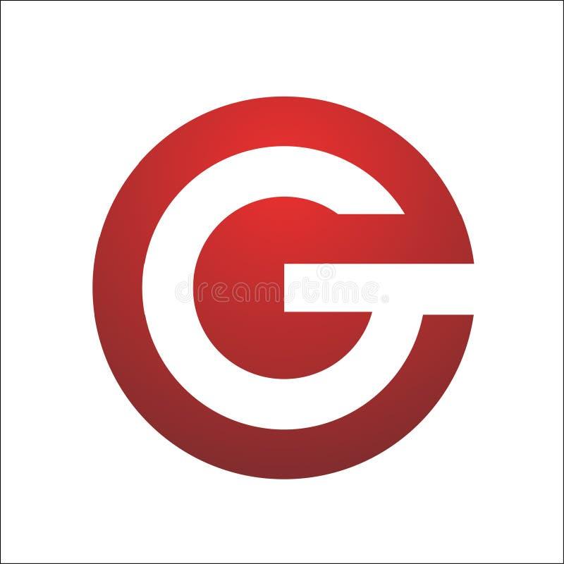 Logo di simbolo di forma dell'elemento del cerchio di G della lettera royalty illustrazione gratis