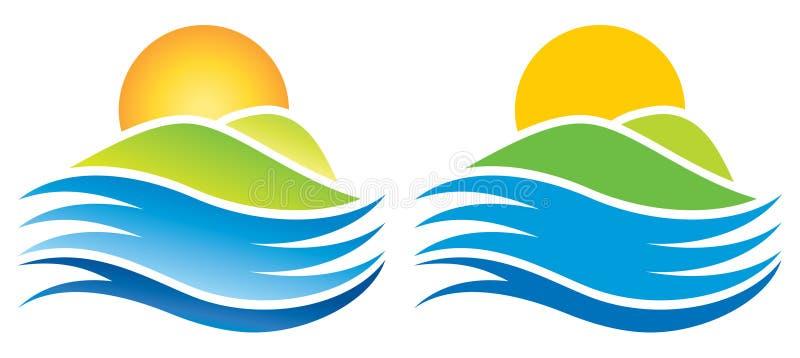 Logo di Sun illustrazione di stock