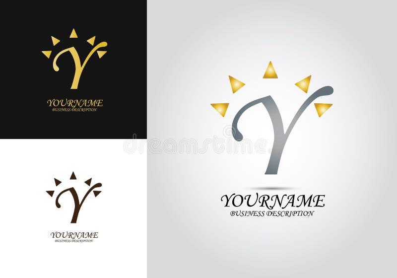 Logo di Sun della lettera di Y royalty illustrazione gratis