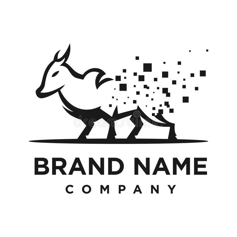 Logo di tecnologia della trasformazione della mucca royalty illustrazione gratis