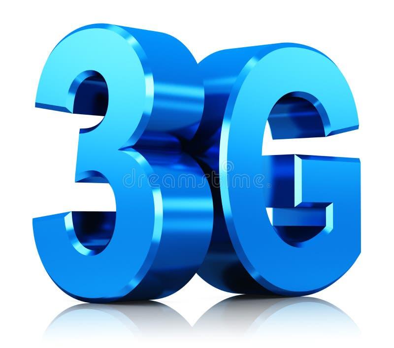 logo di tecnologia wireless 3G illustrazione vettoriale