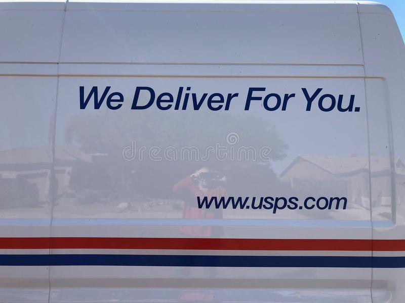 Logo di USPS fotografia stock