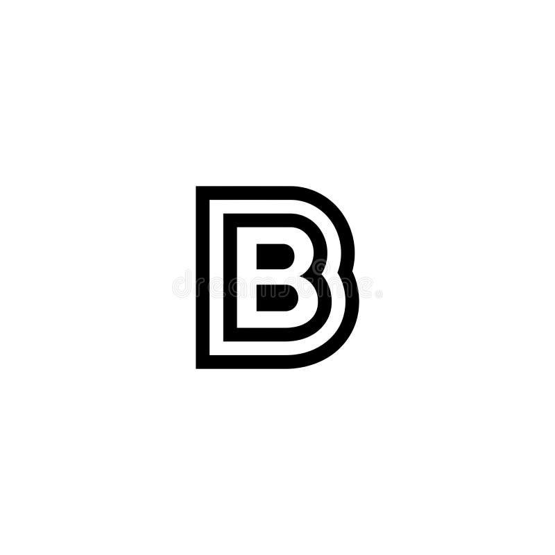 Logo di vettore B illustrazione di stock