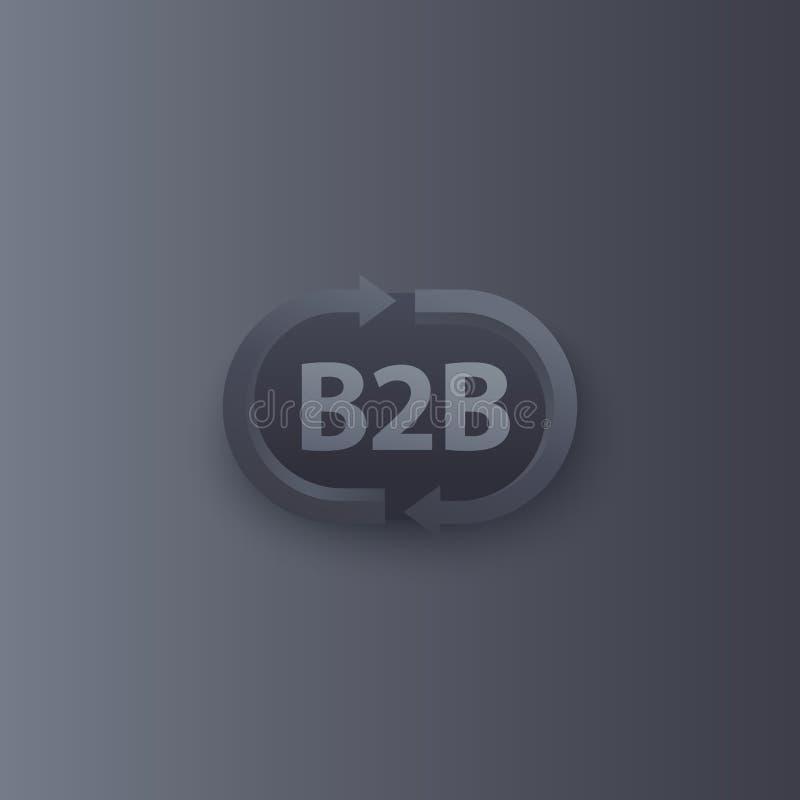 Logo di vettore di commercio di B2b con le frecce illustrazione di stock