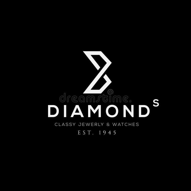 Logo di vettore dei gioielli Segno di affari, identità per il ristorante, sovranità, illustrazione di stock