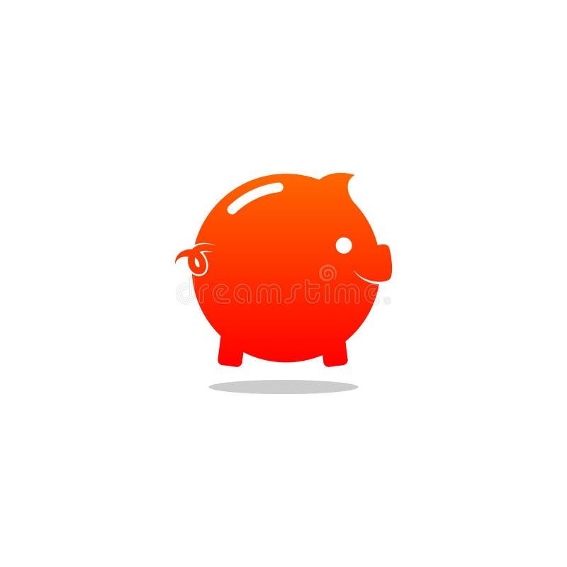 Logo di vettore del porcellino salvadanaio royalty illustrazione gratis
