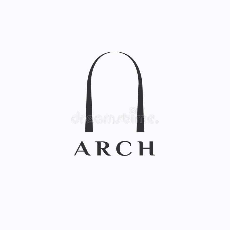 Logo di vettore dell'arco Icona dell'arco illustrazione di stock