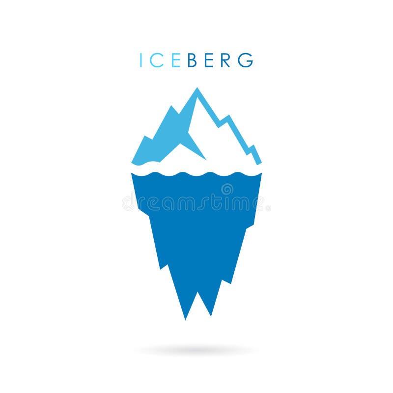 Logo di vettore dell'iceberg illustrazione vettoriale