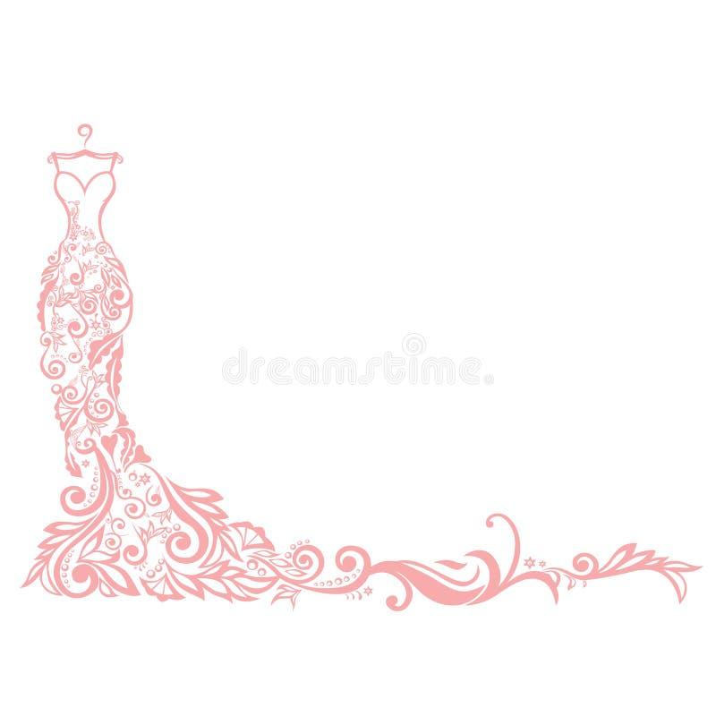 Logo di vettore dell'illustrazione del boutique del vestito royalty illustrazione gratis
