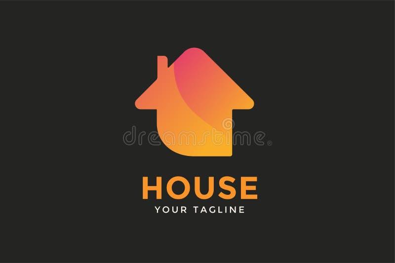 Logo di vettore della casa della serra illustrazione vettoriale