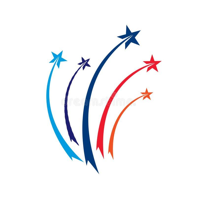 Logo di vettore della stella Emblema della meteora royalty illustrazione gratis