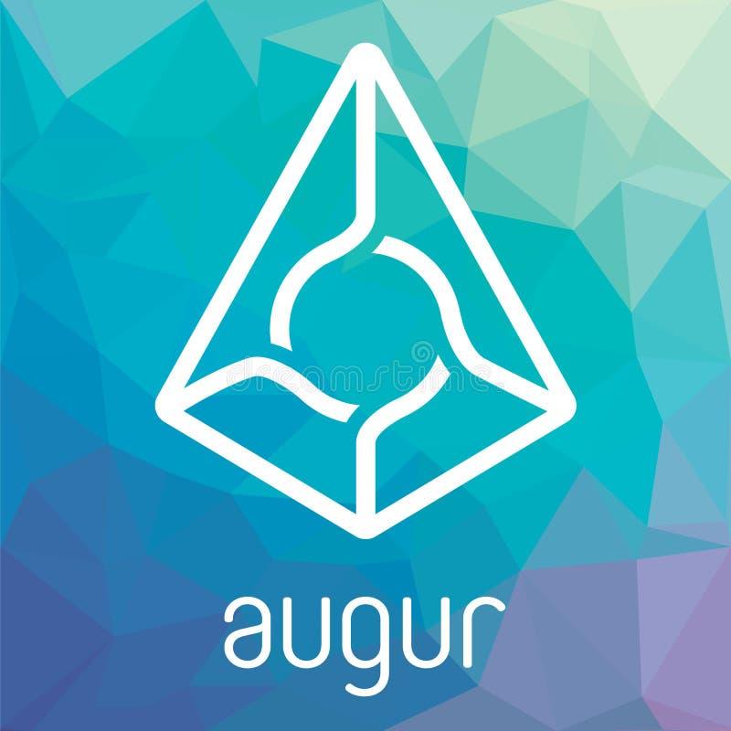 Logo di vettore di valuta di cripto del blockchain del rappresentante delle augure royalty illustrazione gratis