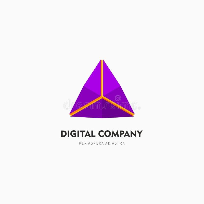 Logo di vettore o progettazione astratto moderno dell'elemento Meglio per l'identità ed i logotypes Forma semplice illustrazione vettoriale