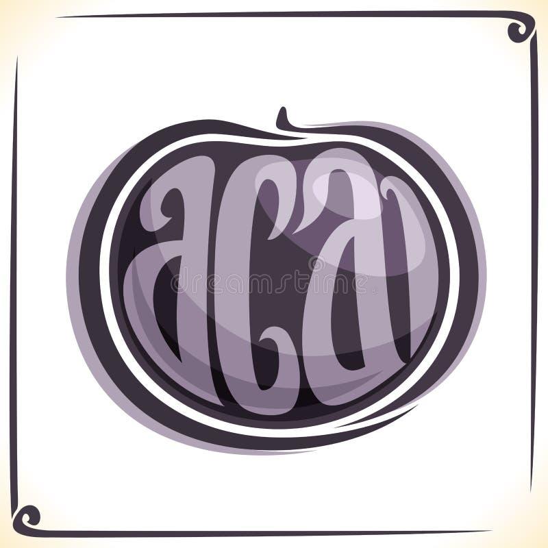 Logo di vettore per Acai royalty illustrazione gratis