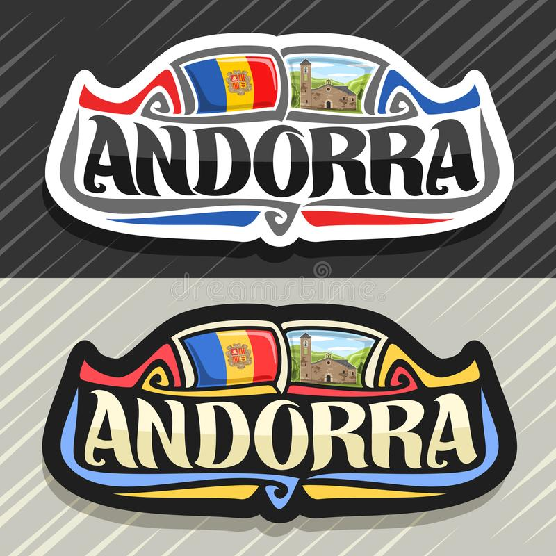 Logo di vettore per l'Andorra illustrazione di stock