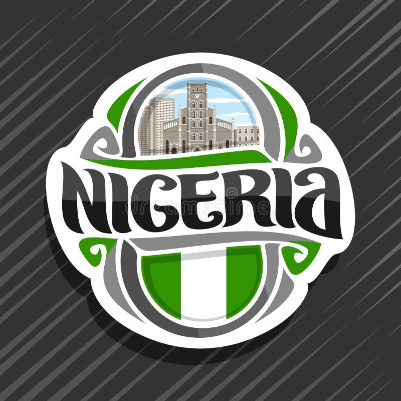 Logo di vettore per la Nigeria illustrazione di stock