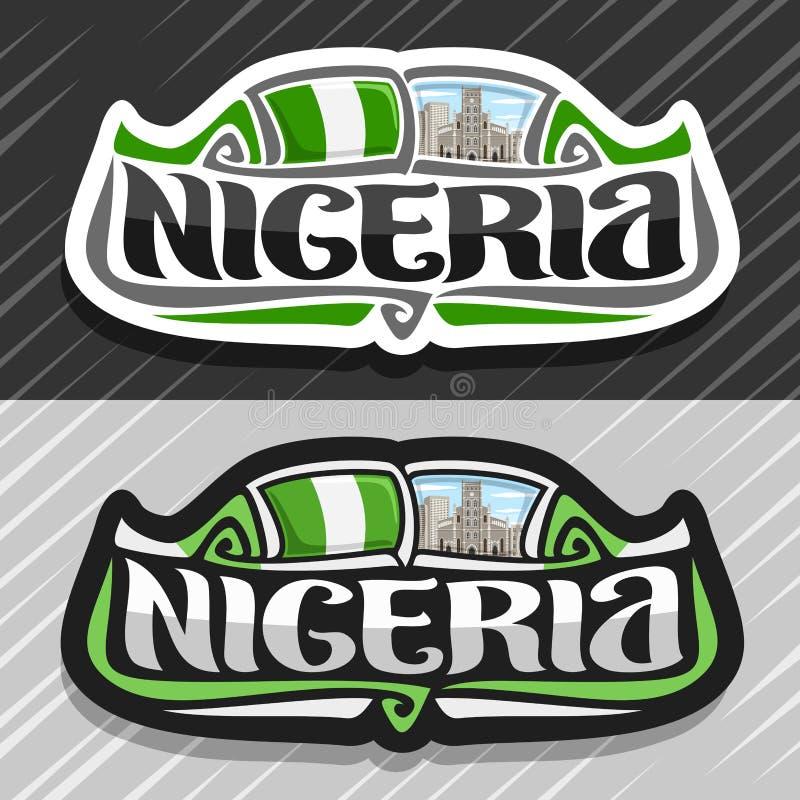 Logo di vettore per la Nigeria royalty illustrazione gratis