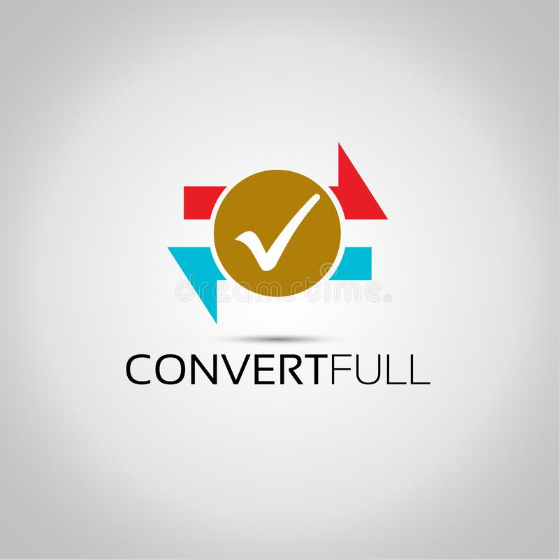 Logo di vettore di progettazione del convertito illustrazione di stock