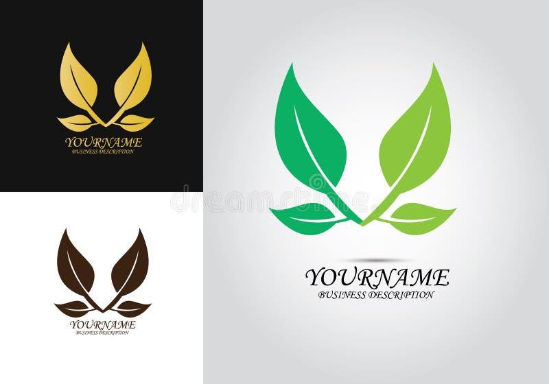 Logo di vettore di progettazione della foglia illustrazione vettoriale