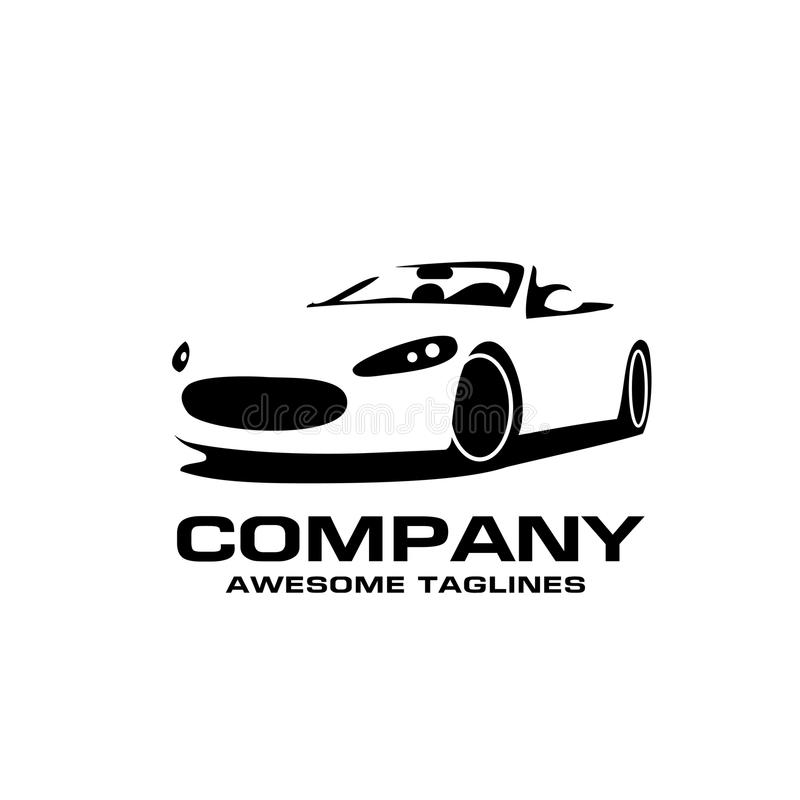 Logo di vettore di stile della siluetta dell'automobile sportiva illustrazione vettoriale