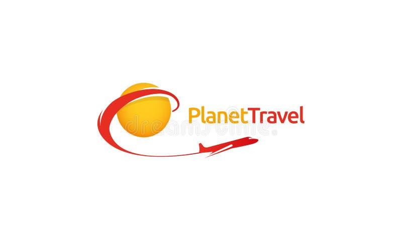 Logo di viaggio del pianeta royalty illustrazione gratis