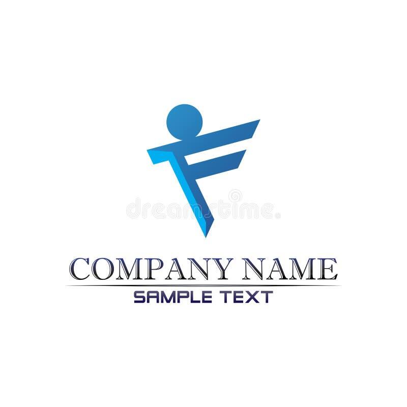 Logo di vita di salute di successo di cura della gente illustrazione di stock