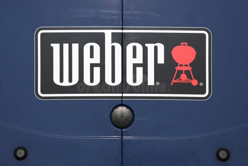 Logo di Weber su un'automobile fotografie stock