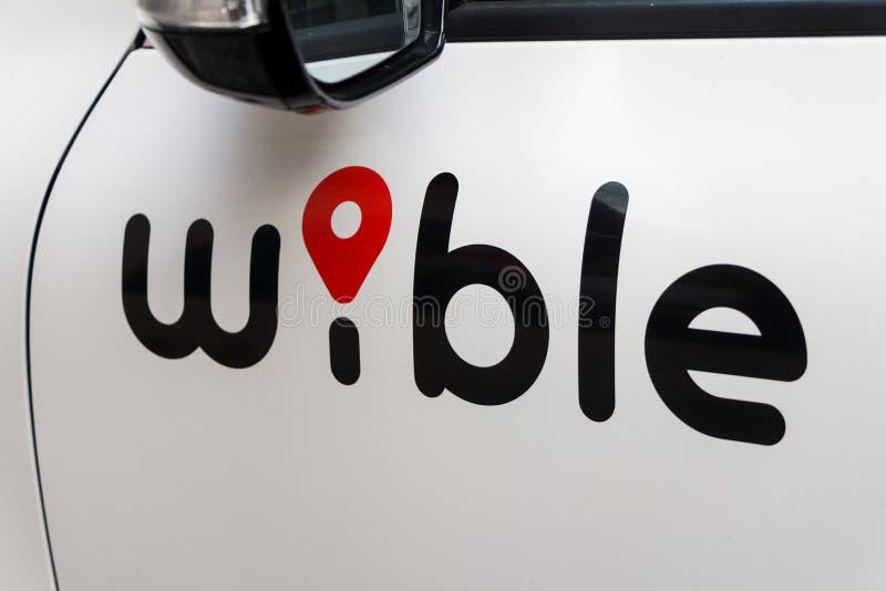 Logo di Wible sull'automobile di Wible fotografie stock