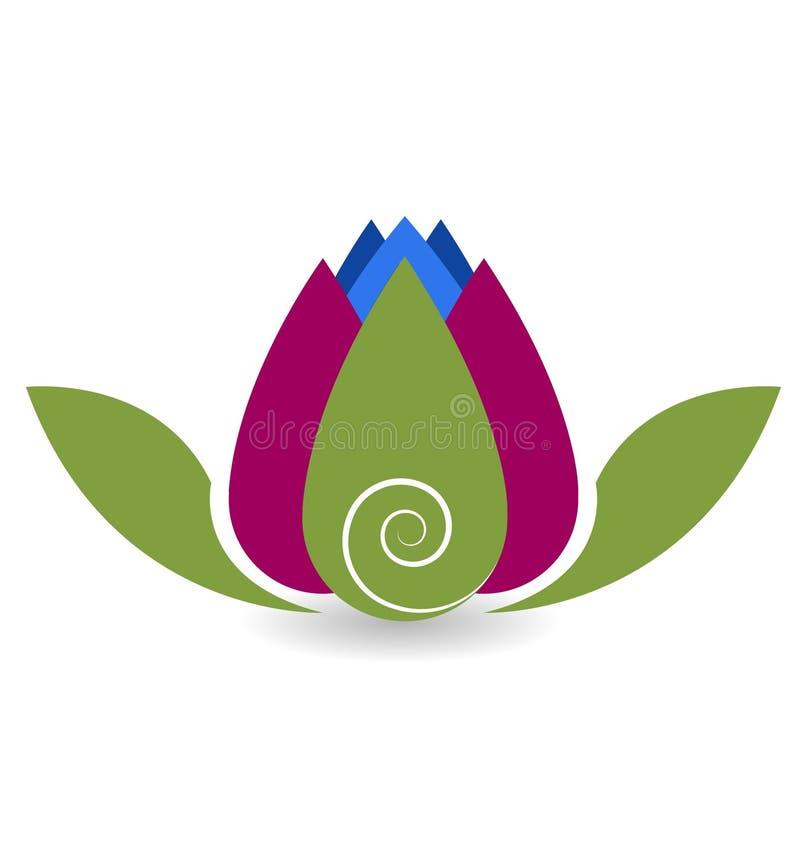 Logo di yoga del fiore di Lotus illustrazione di stock