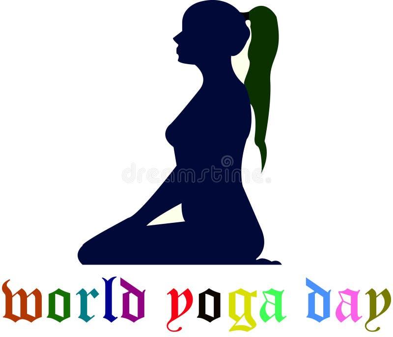 Logo di zen di yoga illustrazione di stock