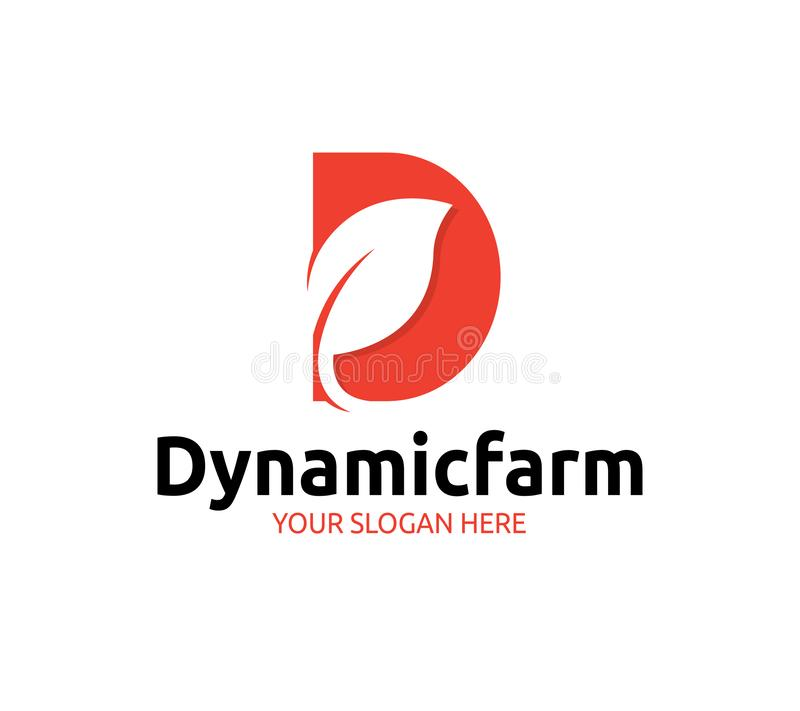 Logo dinamico dell'azienda agricola illustrazione di stock
