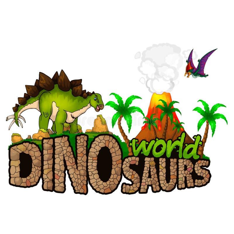 Logo Dinosaurs World illustration stock