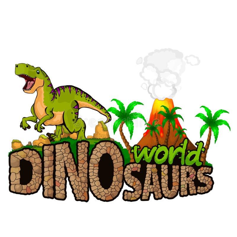 Logo Dinosaurs World illustration libre de droits